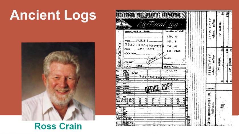 Ancient Logs Ross Crain Petrophysics